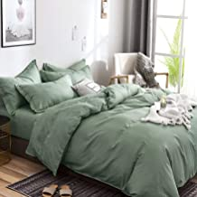 DONETELLA 4-Piece Comforter Bedding Set, Twin Size, Microfiber, Ultra-Soft, MF098 T, Green