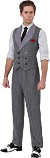Adult 1920 Mafia Don Costume Men's Ruthless Gangster Costume