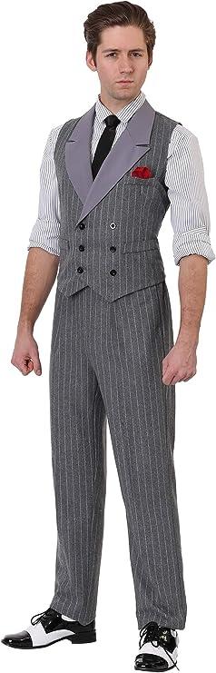 1930s Men's Fashion Guide- What Did Men Wear? Adult 1920 Mafia Don Costume Mens Ruthless Gangster Costume  AT vintagedancer.com