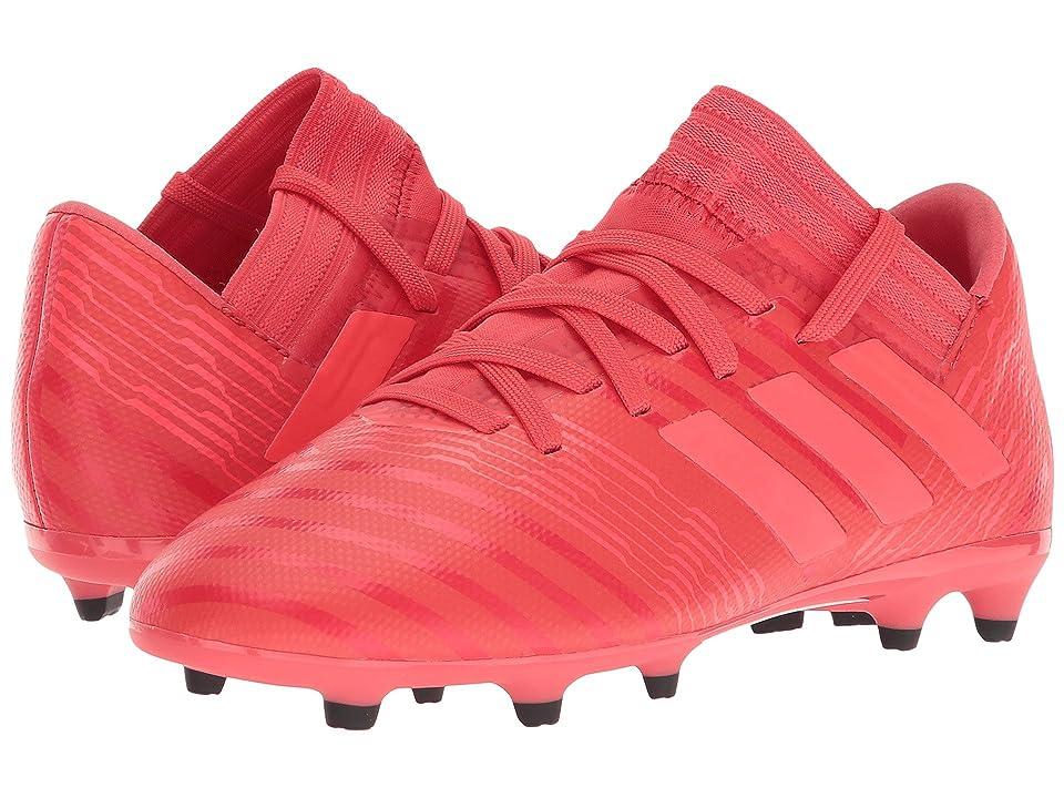 adidas Kids Nemeziz 17.3 FG J Soccer (Little Kid/Big Kid) (Real Coral/Red Zest/Black) Kids Shoes