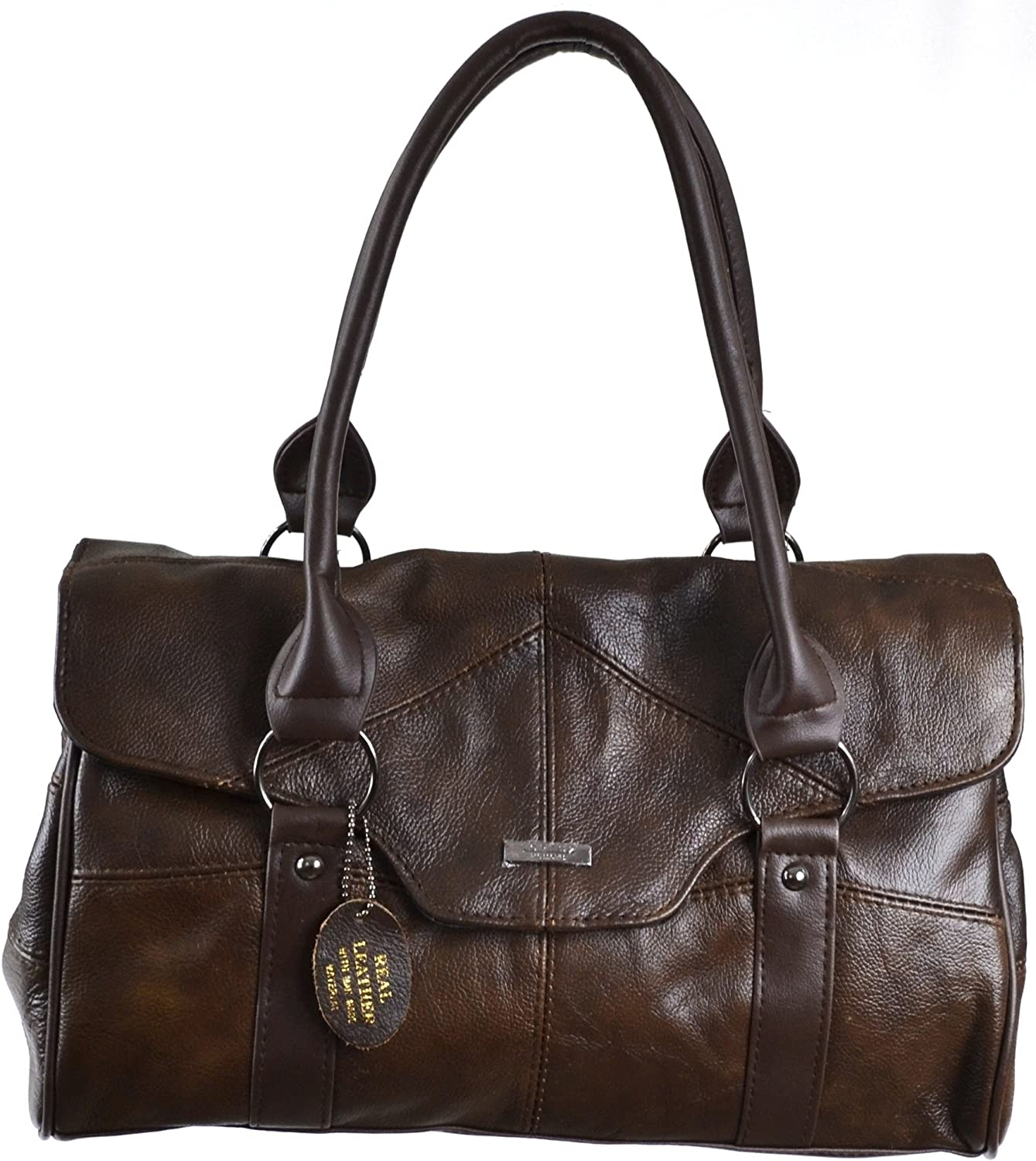 Ladies Leather Shoulder Bag Handbag Discount mail order with Flap Directly managed store Folder and Over Ma