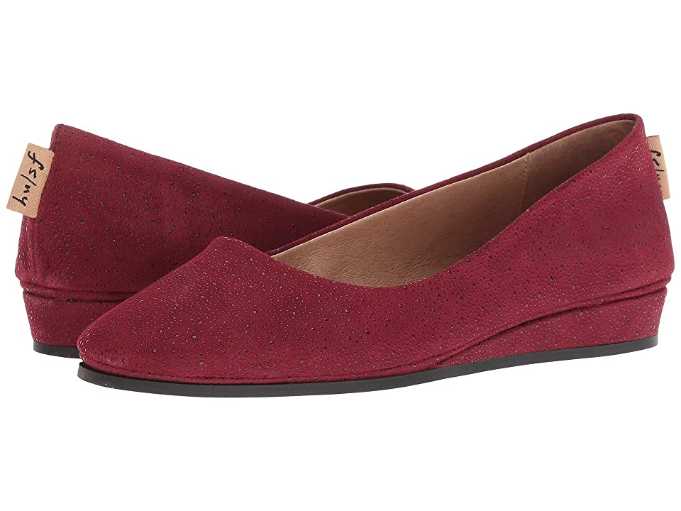 French Sole Zeppa Flat (Burgundy Stingray) Women
