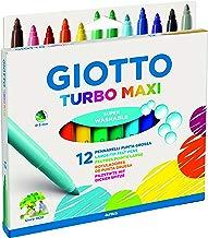 Giotto - Estuche de 12 rotuladores giotto turbo maxi. tinta inocua a base de agua. color surtido.