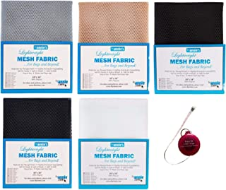 """ByAnnie's Mesh Fabric Lightweight Bundle- Pewter, Natural, Navy, Black and White 18"""" x 54"""" with Tape Measure -Bundle of 6 ..."""