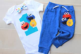 First Birthday Outfit Boy, First Birthday Sesame Street Outfit