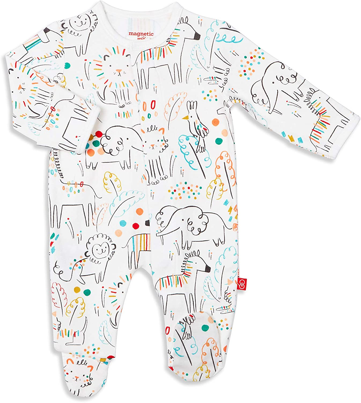 Magnetic Me Footie Pajamas Max 46% Fresno Mall OFF 100% Qu Cotton Sleepwear Baby Organic