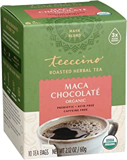 Teeccino Herbal Tea – Maca Chocolaté – Rich & Roasted Herbal Tea That's Caffeine Free & Prebiotic with Natural Energy from...