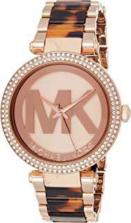 Michael Kors Womens Quartz Watch, Analog Display and Stainless Steel Strap MK6190