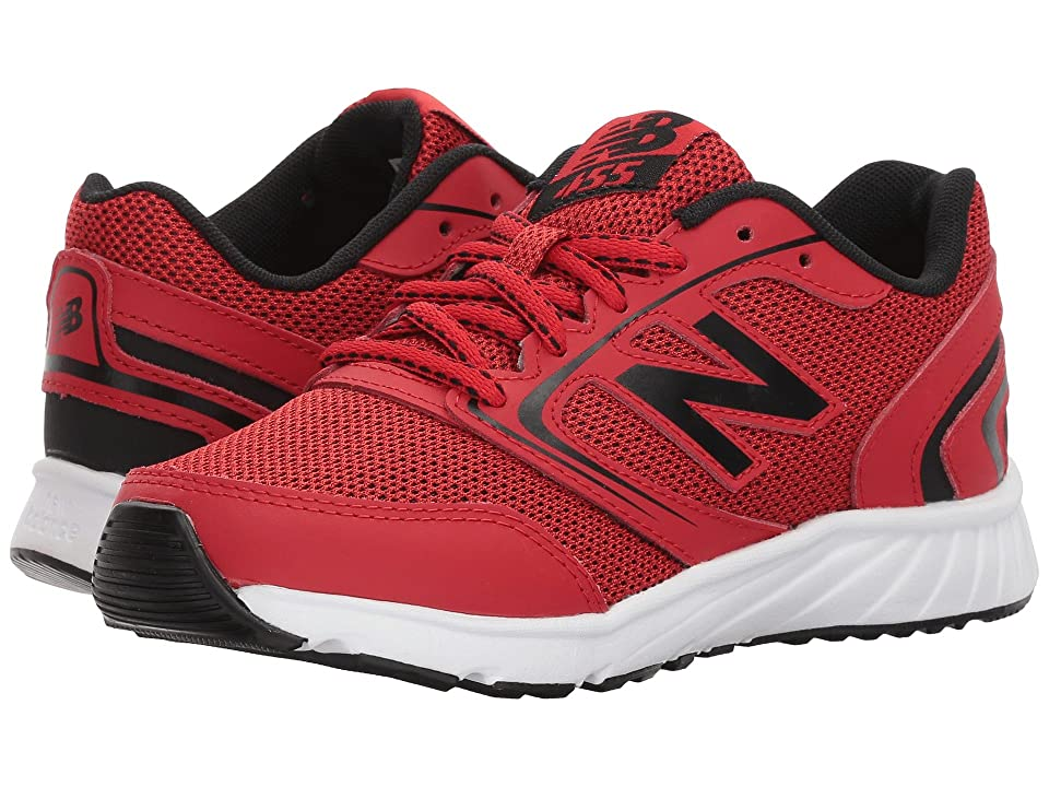 New Balance Kids KR455v1Y (Little Kid/Big Kid) (Team Red/Black) Boys Shoes