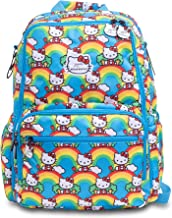 JuJuBe x Hello Kitty Zealous Backpack   Lightweight, Travel-Friendly, Stylish Diaper Bag or Backpack for Kids and Adults, Changing Pad Included   Hello Rainbow