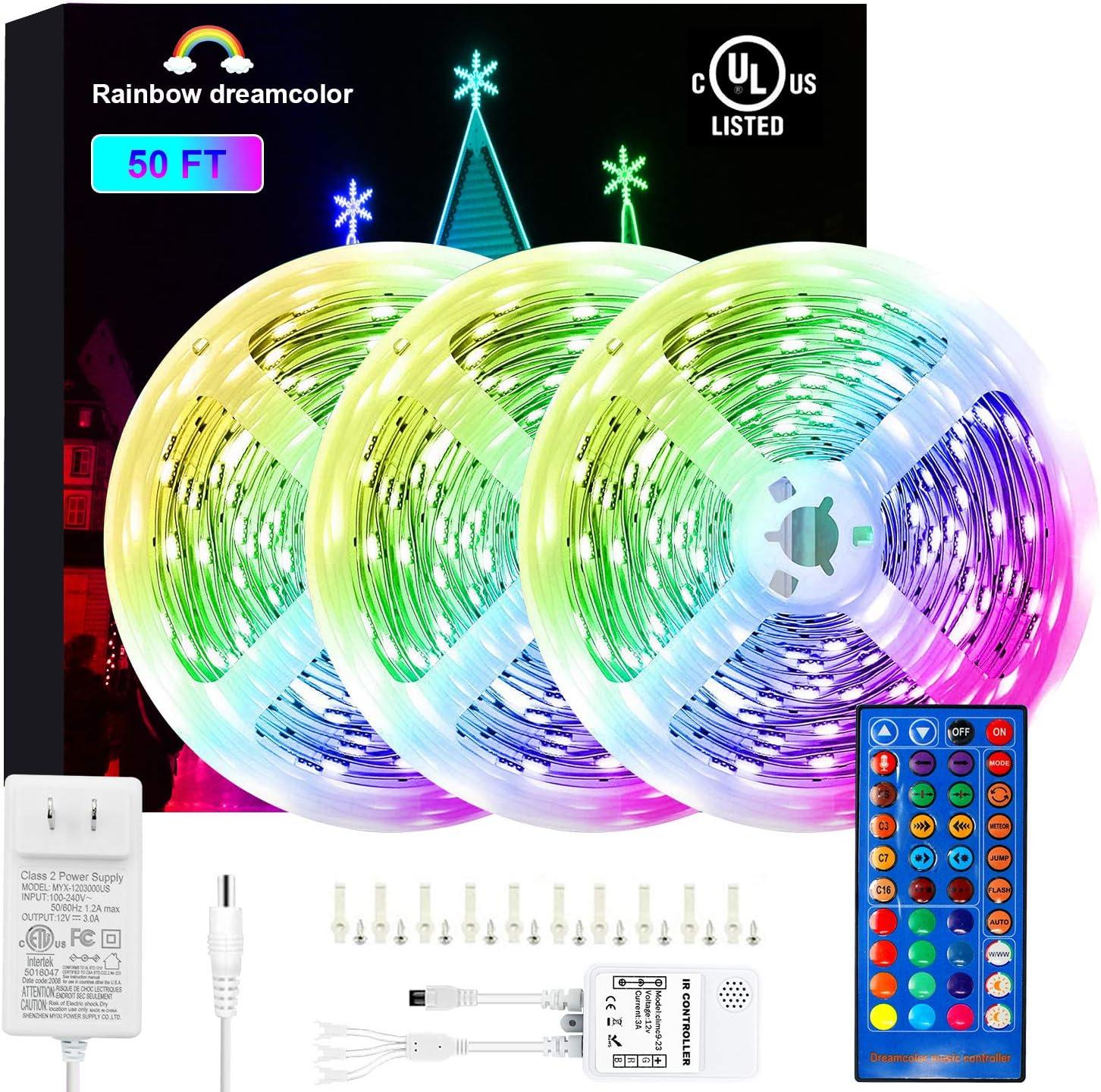 50Ft DreamColor LED Sale item Strip Lights Multicolor Chasin RGBIC 450pcs Bargain sale