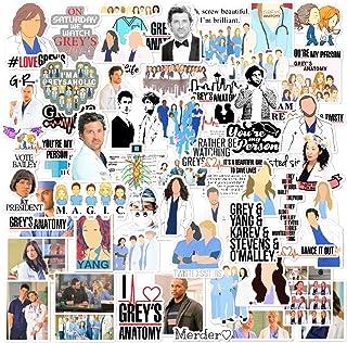 Grey's Anatomy Sticker Pack 106pcs Pcs tv Show Creative DIY Stickers Funny Decorative Cartoon for Cartoon PC Luggage Compu...
