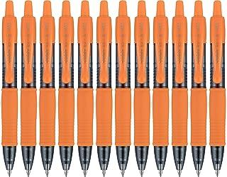 Pilot G2 Mini Premium Rolling Ball Gel Pens, Fine Point, 0.7 mm, Retractable, Refillable, Orange, 12 Count
