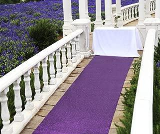 Zdada Aisle Runners for Weddings for Outdoor Wedding, Aisle Runner Purple, 36