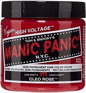 Manic Panic Semi-Permament Haircolor Cleo Rose 4 Ounce Jar (118ml) (6 Pack)