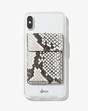 Sonix Card Holder Wallet Adhesive Phone Pocket Sticker (Gray Python Leather)
