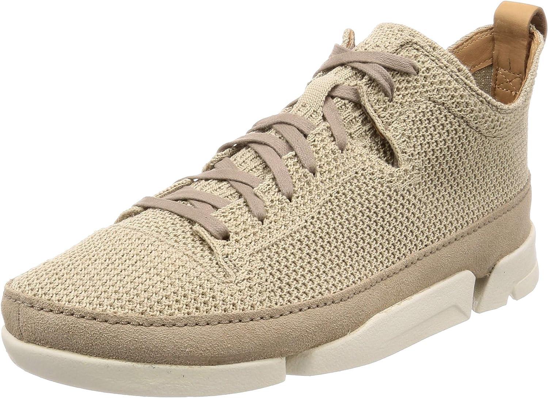 Clarks Originals Mens Trigenic Flex Knit shoes in Sand