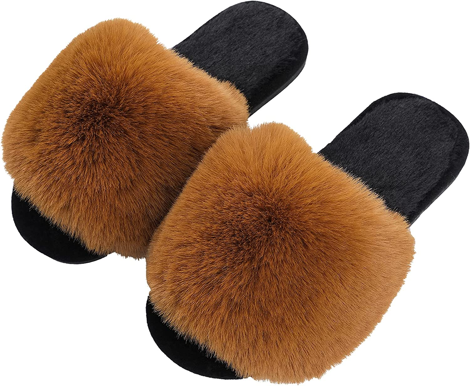 Womens Fur Slippers - Women Size US Houseshoes Fresno Mall Selling rankings