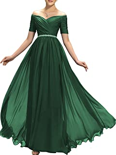 Womens Beaded Off Shoulder Prom Bridesmaid Dress 2019 Long Aline Evening Formal Gown TB32