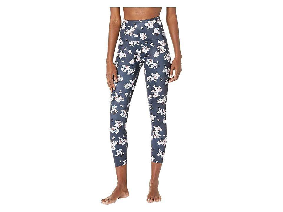 Beyond Yoga High-Waisted Midi Leggings (Impressionist Floral Navy) Women