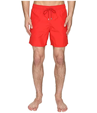 Vilebrequin Moorea Classic Solid Swim Trunk (Red) Men