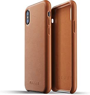 Mujjo Full Leather Case for iPhone X, Tan