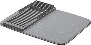 AmazonBasics - Estantería de plástico con esterilla, 41 x 48 cm, color carbón, con 2 esterillas