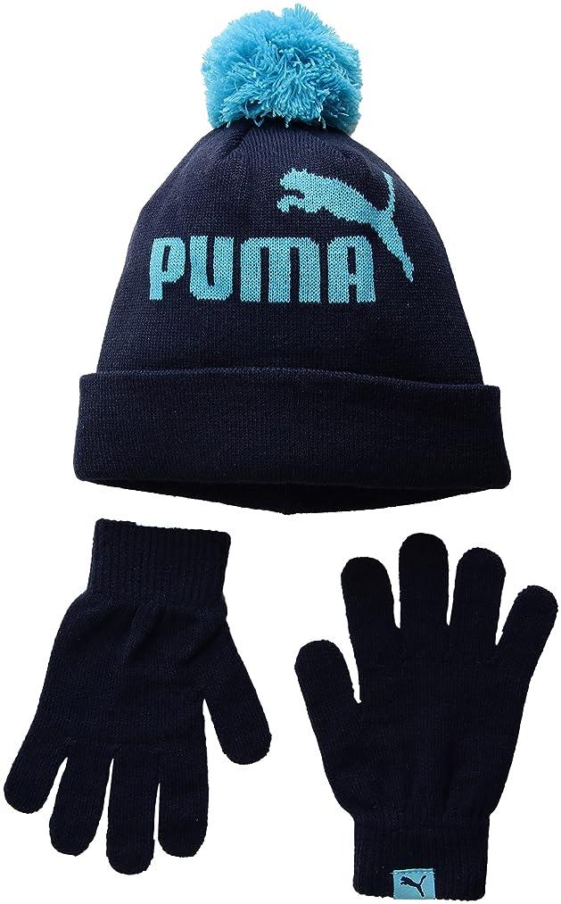 PUMA Kids Evercat Polar Youth Beanie and Glove Set