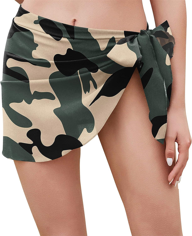 Yincro Women Short Sarong Beach Bikini Wraps Chiffon Cover Ups for Swimwear
