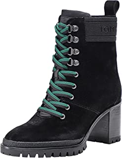 TOMMY HILFIGER Sporty Outdoor Mid Heel Womens Boots Black
