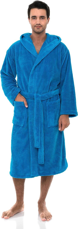 TowelSelections Men's Robe Plush Bathrobe Hooded Trust Fleece Spa Phoenix Mall
