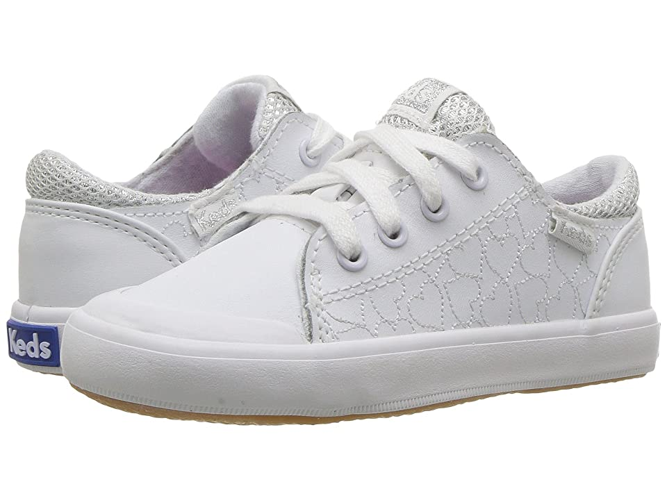 Keds Kids Courtney (Toddler/Little Kid) (White) Girl