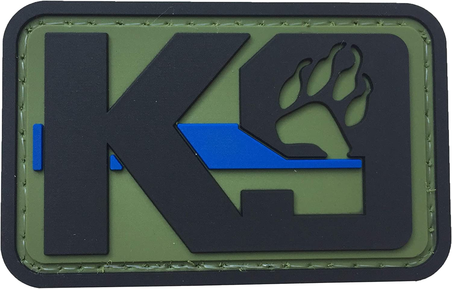 K9 Dog Paw Patch PVC San Francisco Mall Rubber Morale Law Police Max 88% OFF Enforceme Tactical