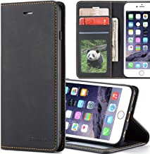 SAVYOU Wallet Case iPhone 6s Plus [Folio Cover][Stand Feature] Slim iPhone 6 Plus Flip Leather Card Wallet Case with Side Pocket Magnetic Closure for Apple iPhone 6s Plus - Black