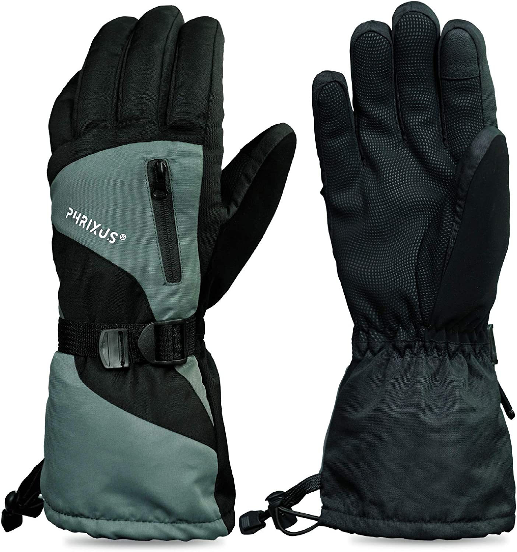 PHRIXUS Ski /& Snow Gloves Winter Waterproof Gloves for Men /& Women