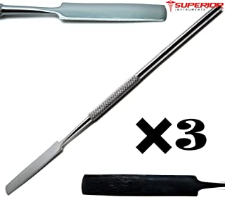 3 Pcs Superior Dental Cement Lab Mixing 17.3cm Spatulas Wax Modeling Stainless Steel Instruments