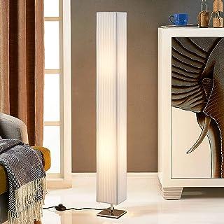 Lindby Lampadaire Tissu 'Janno' (Moderne) en Blanc en Textile e. a. pour Salon & Salle à manger (à 2 lampes, E27) | Lampad...