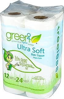 Green 2 Ultra Soft Bath Tissue - 12 per pack - 8 packs per case.