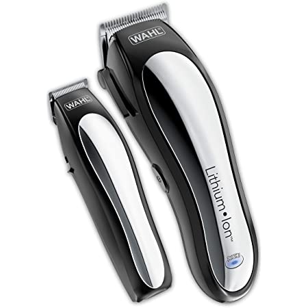 Wahl Clipper Lithium Ion Cordless Haircutting & Trimming Combo Kit - Rechargeable Electric Razor for Grooming Heads, Beards, & All Body Grooming - Model 79600-2101