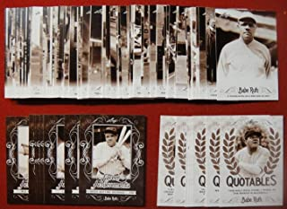 2016 Leaf Babe Ruth Collection COMPLETE 100 CARD MASTER SET INC 80 CARD BASE SET + 10 card Quotables + 10 card Career Achievements