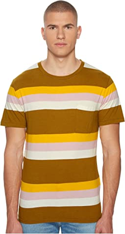 Levi's® Premium - Made & Crafted Breen Stripe Pocket T-Shirt