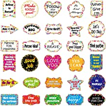 MOLECOLE 30 Pieces Confetti Positive Sayings Accents, Confetti Accents Removable Confetti Stickers for Classroom Bulletin Board Decorations, Back to School Stickers,Office, Home Nursery Decoration