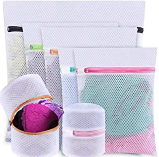 H HOME-MART 7 Pack Mesh Laundry Bags, 1 Extra Large &2 Large &2 Medium & 2 Bra Bags, Washing Machine Wash Bags, Lingerie W...