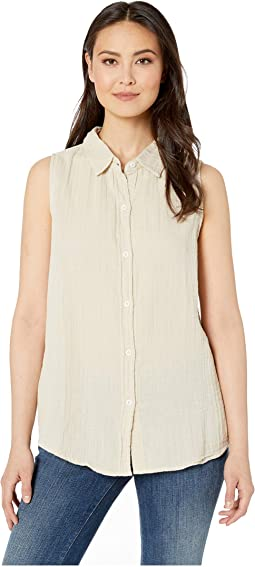 3e5d83f29766 Dylan by True Grit. Soft and Light Double Gauze Sleeveless Shirt with  Button Back.  82.00. New. Sand