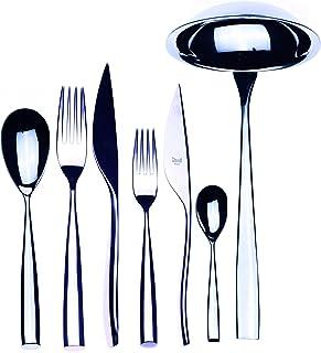 Mepra 105022039 Flatware Set, [39 Piece, Metallic Finish, Dishwasher Safe Cutlery