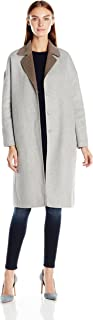 Baldwin Womens 252033GYTP Clara Topcoat Wool Coats - Gray