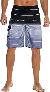 Men's Beachwear Summer Holiday Swim Trunks Quick Dry Striped