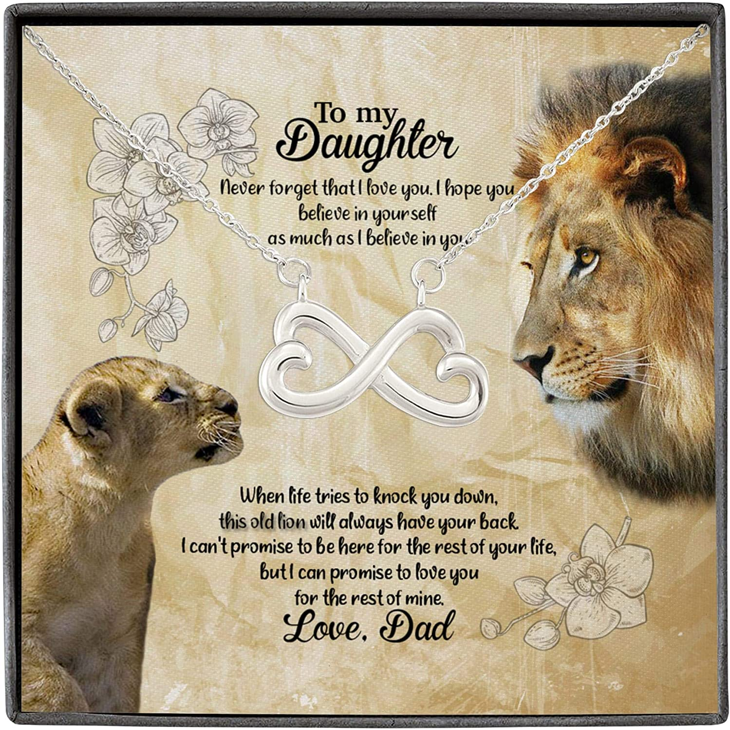 67% OFF of fixed price Lion From Dad To My Outlet sale feature Daughter Never You Infini I That Forget Love