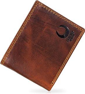 Corno d´Oro Cartera de piel para hombre, con certificado TÜV RFID Blocker I Cartera para hombre, formato horizontal, vinta...