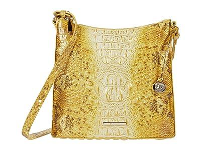 Brahmin Ombre Melbourne Katie Crossbody (Canary) Handbags